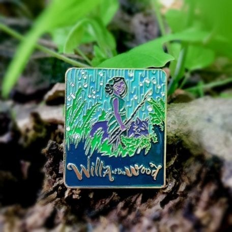 Gold Enamel Pin - Willa of the Wood - Large