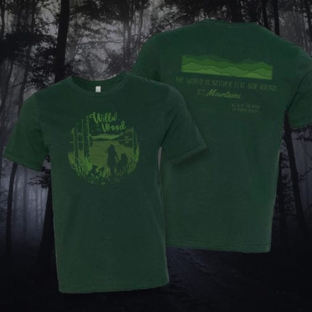 Willa of the Wood tee in enchanting Evergreen Dream (unisex).