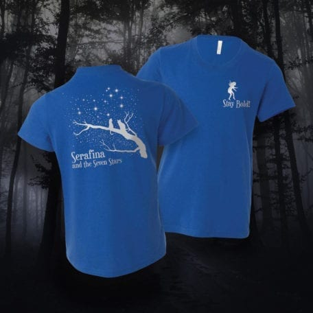 Seven Stars T-Shirt for Book 4 in the #1 New York Times Best-selling Serafina Series